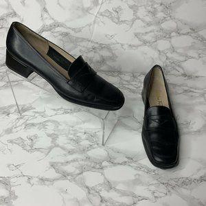 Salvatore Ferragamo Women's 7 Black Slip On Loafer